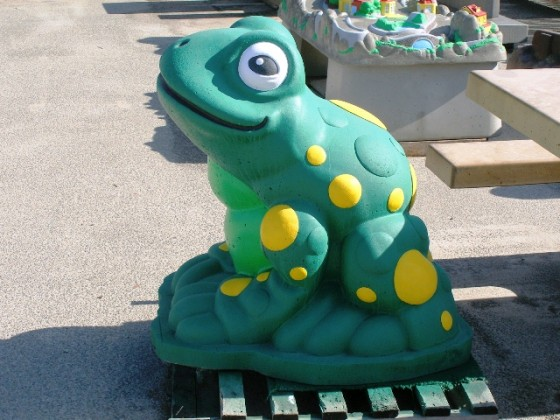 Precast Painted Frog