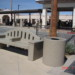 Precast Bench with Arm Rest and Trash Receptacle thumbnail