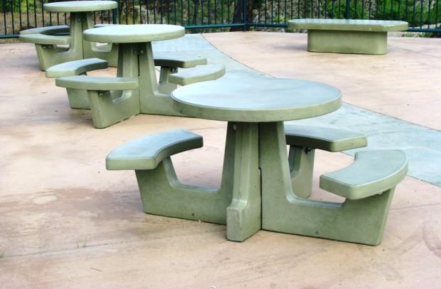 Precast ADA Round Picnic Table