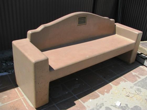 Custom Precast Memorial Dedication Bench