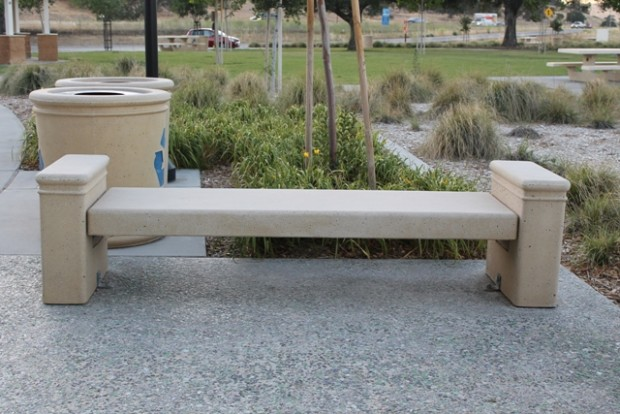 Park Bench with Arm Rest - Camp Robert Rest Stop Area, CA