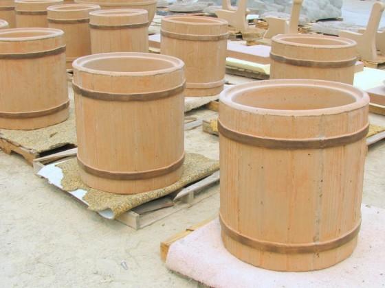 Precast Woodgrain Trash Receptacles