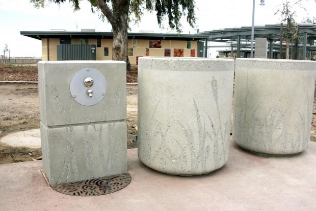 Precast Water Faucet & Receptacle - Philip S. Raine Rest Stop Area - Tipton, CA