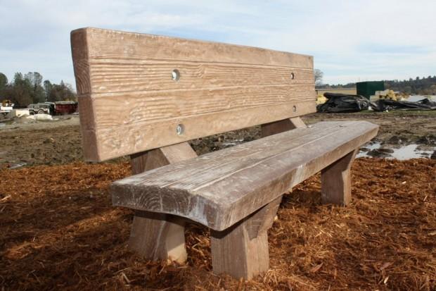 Precast Wood Grained Bench