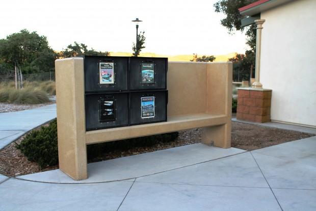 Precast Concrete Newspaper Rack Holder