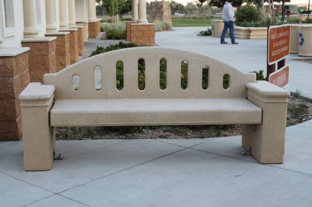 Precast Concrete Fluted with Back Bench
