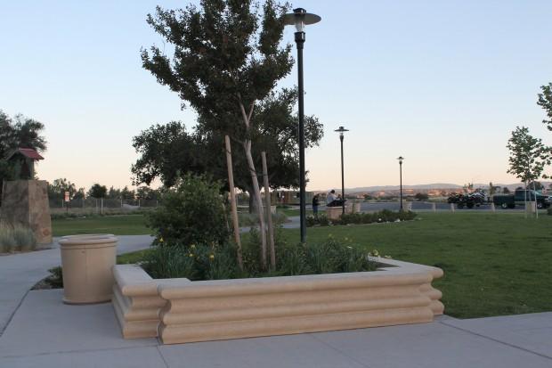 Custom Precast Bench Planter