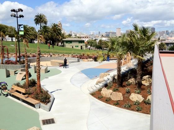 Overview of Helen Diller Park