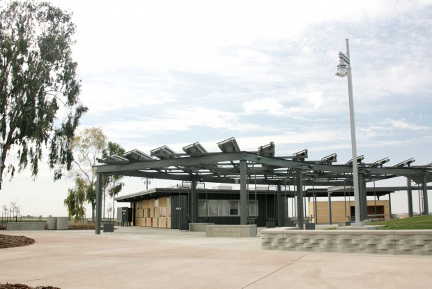 Overview of the Philip Raine Rest Area