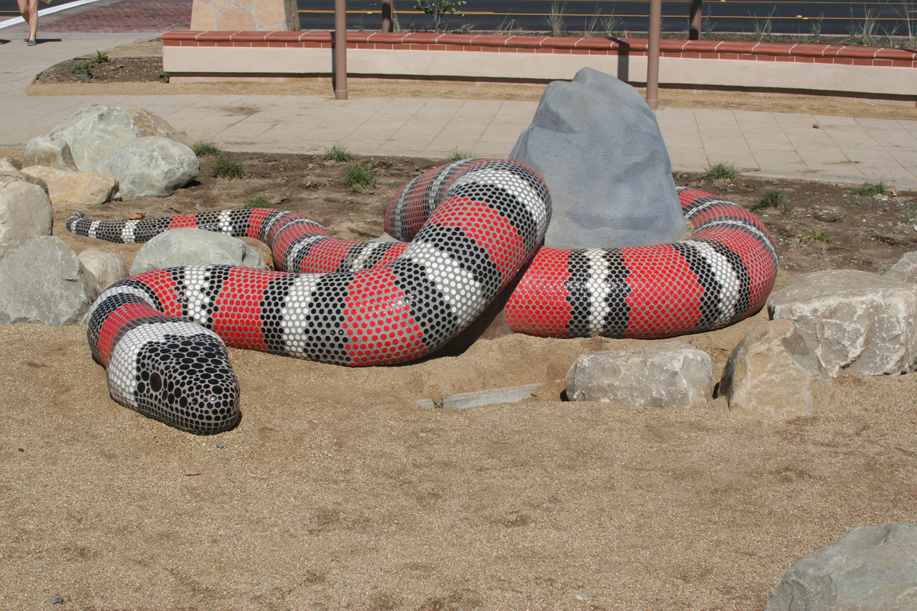 Precast Gopher Snake with Mosaic Tiles