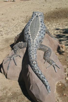 Precast Coast Horned Lizard with Mosaic Tiles